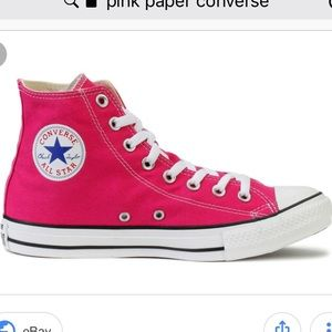 75df4399754e Converse Shoes - Like New Pink Paper High Top Converse